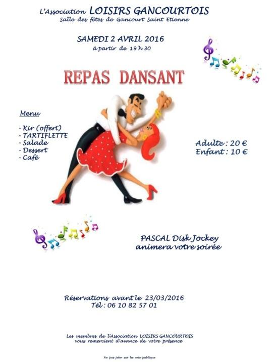 Repas dansant 2016