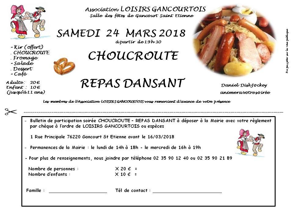 Repas dansant grand modele 2018 Choucroute 1